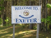 "sign: ""Welcome to Exeter"" (2014)"
