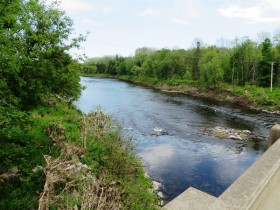 Piscataquis River between Atkinson and Sebec, left (2014)