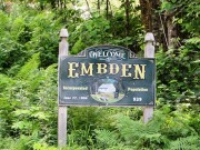 "sign: ""Welcome to Embden"" (2014)"