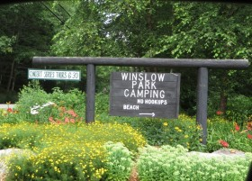 """sign: """"Winslow Park"""" in South Freeport (2014)"""