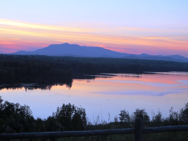 Sunset Over Mount Katahdin at Salmon Stream Lake (2014)
