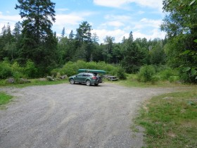 Parking and picnic area on the Grand Lake Road inT6 R7 WELS at the Sebois River