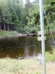USGS Water Monitoring System on the Sebois River inT6 R7 WELS on the Grand Lake Road (2014)