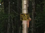 """Wildlife Sanctuary"" Sign"