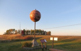 Maine Solar System Model, Jupiter on U.S. Route 1 in Presque Isle (2014)