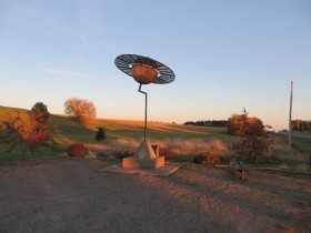 Maine Solar System Model, Saturn on U.S. Route 1 in Westfield (2014)