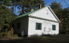 Old Fryeburg Town Hall in Fryeburg Center on Route 5 (2014)