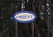 "Sign: ""Welcome to Orient"" on Number Nine Road (2014)"
