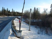 Town Line Sign for Masardis at Scopan Stream on Route 11