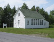 Snowman School Museum, Woodland Historical Society on Route 228 at Thibodeau Road (2015)