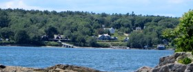 Chebeague Island East Shore from Bangs Island (2015)