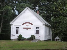 1873 Schoolhouse and home of Muscongus Community Club (2015)