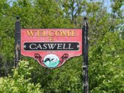 Welcome to Caswell sign (2016)