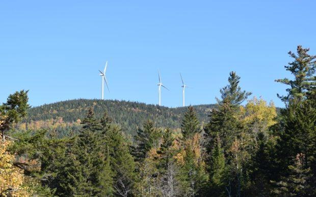 Turbines from Route 27 in Alder Stream (2017)