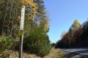 """Townline sign: """"Alder Stream"""" (2017)"""
