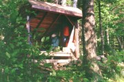 Lean-To on the Russell Pond Trail at Wassataquoik Stream (1996)
