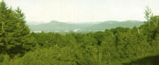 Attean Pond from Scenic Turnout in Jackman July 1970