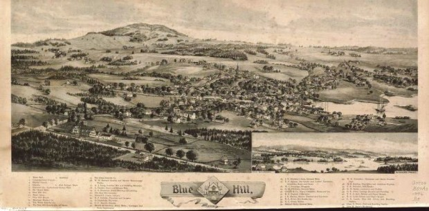 Blue Hill Birdseye View 1896