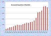 Brunswick Population Chart 1790-2010