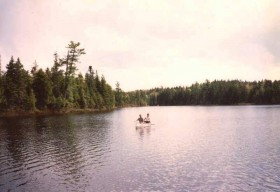 Canoe in Spectacle Pond (1990)