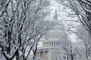 U.S. Capitol with Snow