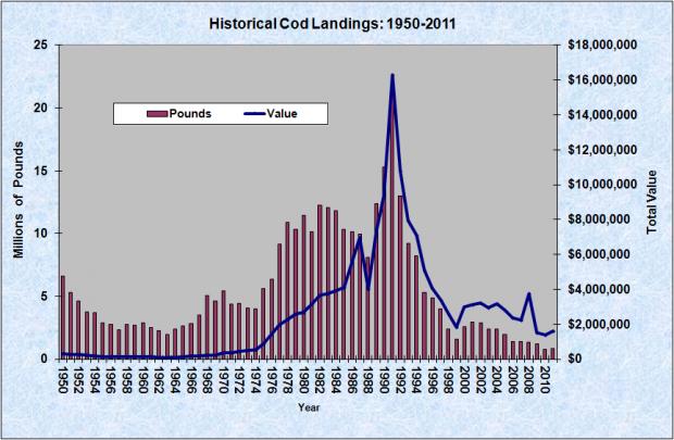 Cod Landings 1950-2011
