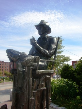 Sculpture of Film Director John Ford in Portland