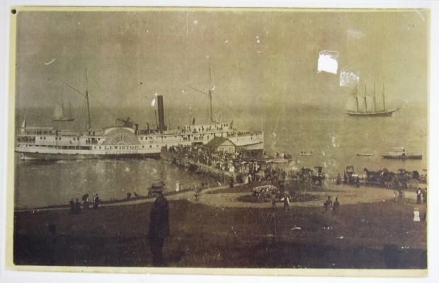 Sidewheel Steamer Lewiston at Northport Landing