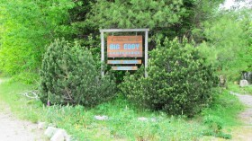 Sign to the Big Eddy Campground