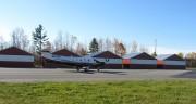 Airplane near Airport Buildings (2012)