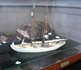 Model of the Schooner Bowdoin at Bowdoin College (2013)