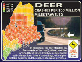 Deer Crash Map MDOT (2008)
