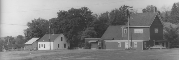 Dexter Grist Mill and Miller's House at left (1975)