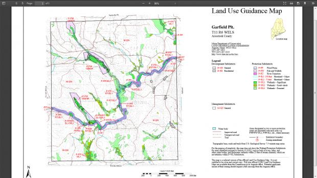 Garfield Plantation Land Use Guidance Map (2014)