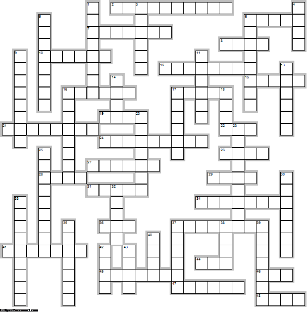 Governors Crossword