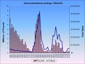 Haddock Landings 1950-2016