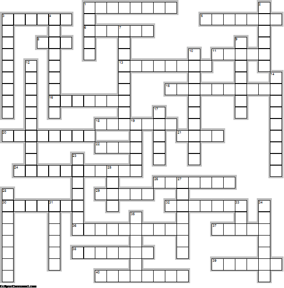 History Crossword Layout