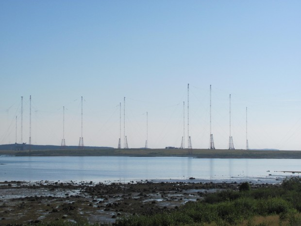 U.S. Navy Submarine Communication Towers on East Machias Bay (2011)