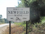 Sign: Town of Newfield Maine, Inc. 1794 (2011)