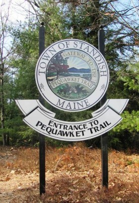 Sign for Pequawket Trail on Route 113 (2012)