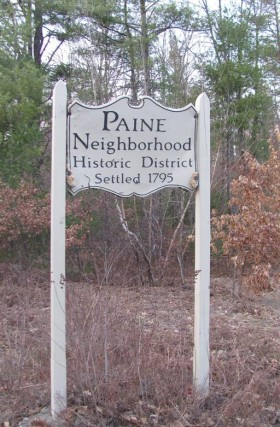 Sign for Historic Paine Neighborhood (2012)