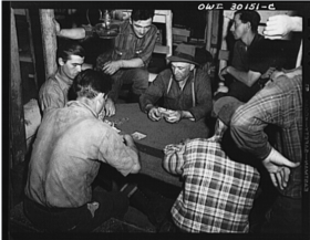 Poker in Camp (c. 1943)