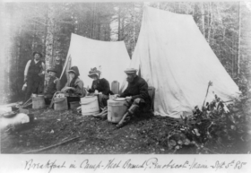 Breakfast in camp - West Branch, Penobscot, Maine - Sept. 5th 85
