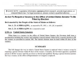 Sample Legislative Bill (2009)