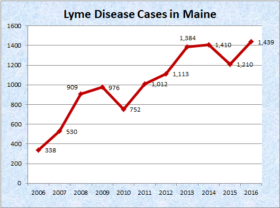 Lyme Disease Cases in Maine