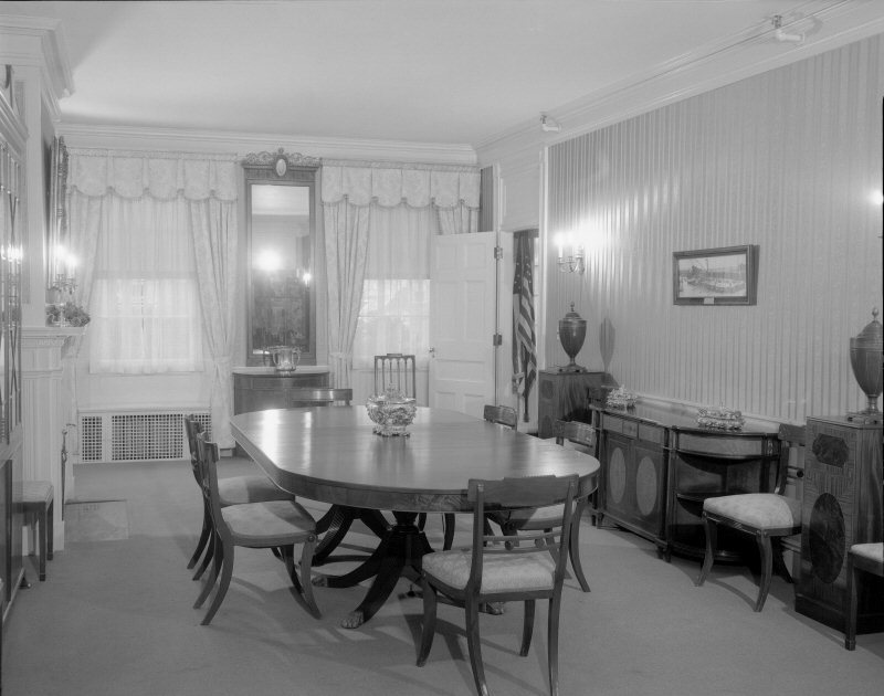 The Blaine House Dining Room Interior C 1955 From Maine State Archives