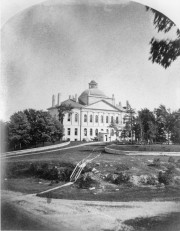 Photograph of the Maine State House, likely early 19th Century