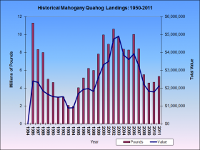 Mahogany Quahog Harvests 1984-2011
