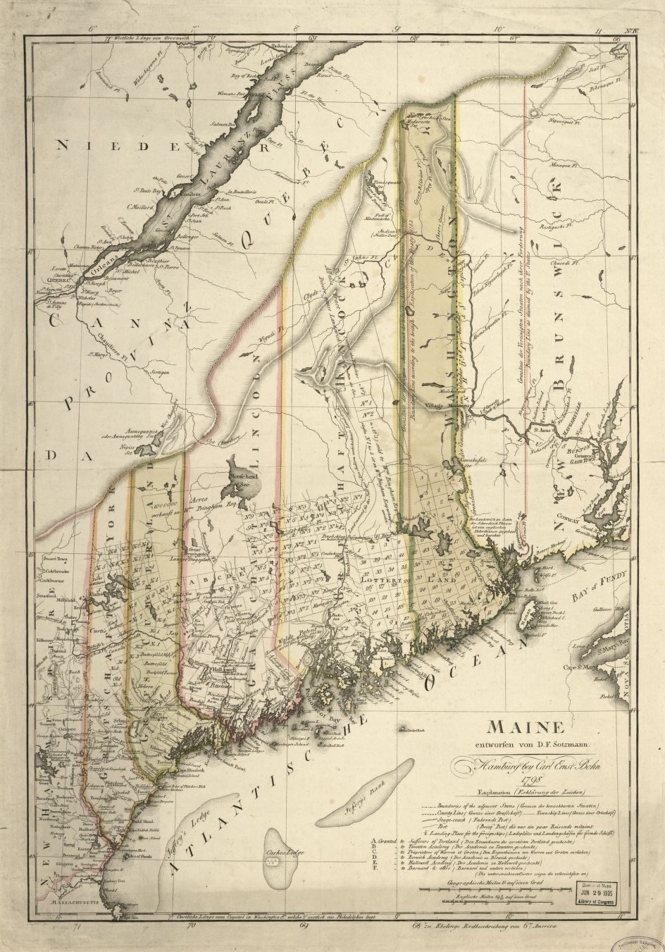 Map Cabinet Maine An Encyclopedia - Maine county map