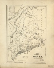Coleman Map of Maine 1831